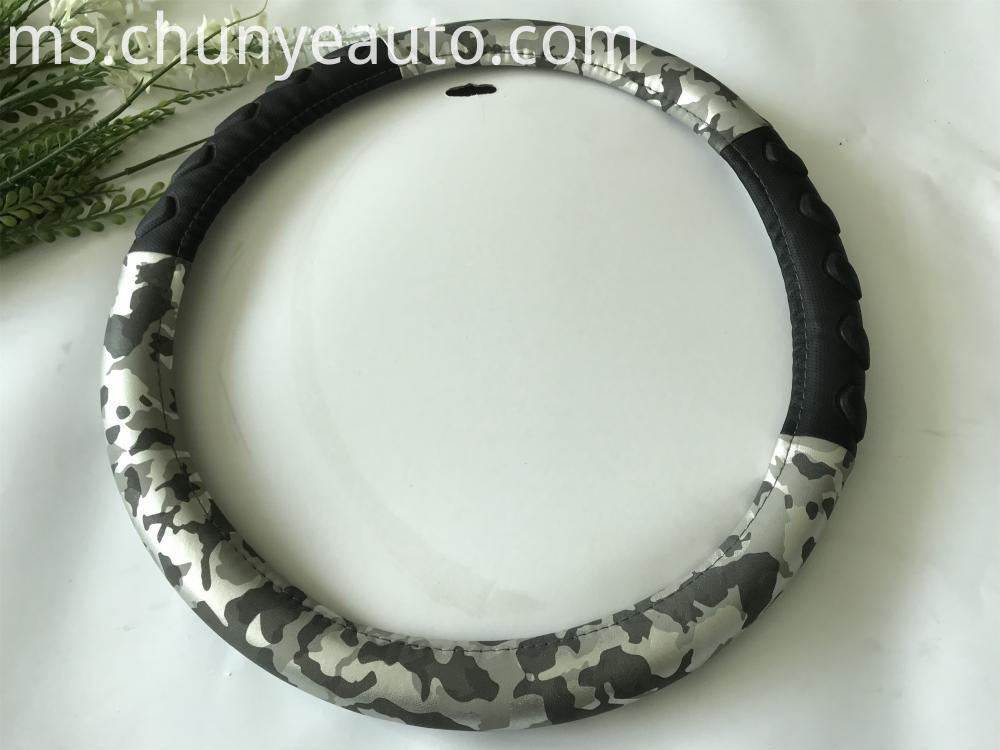 Camouflage steering wheel cover