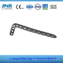 Metal Trauma Óssea Implante Ortopédico L Tipo Placa Tipo