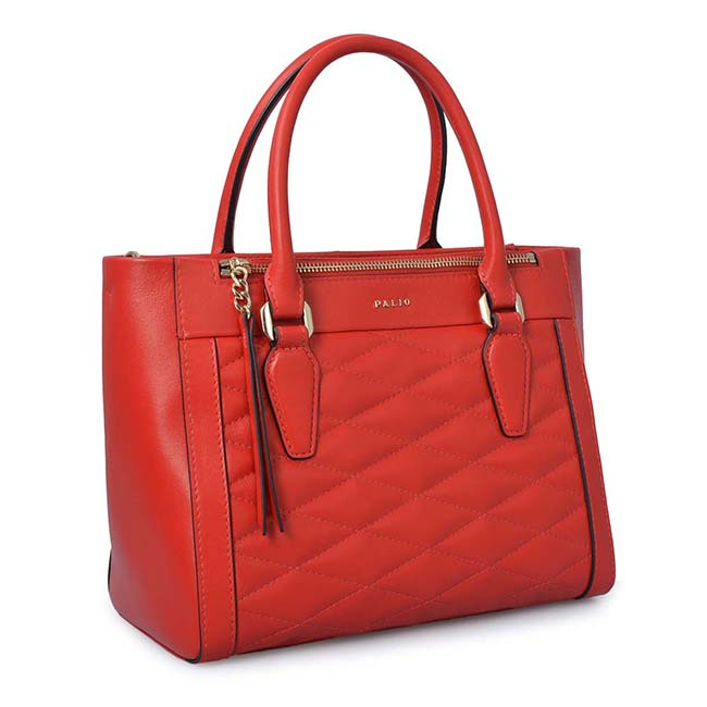 High Quality fashion chain strap PU leather quilted lady tote bag