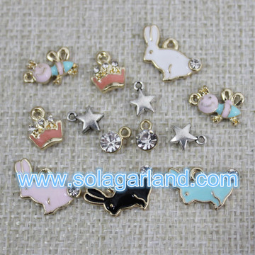 Wholesale Mix Metal Charms Drop Oil Pendants Accessories Decoration
