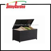Patio Storage,Outdoor Storage Box,Outdoor Aluminum Frame Rattan Wicker Cushion Storage
