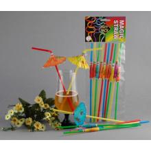 Party Decoration Series Plastic Drinking Straw, Crazy Straw, Cartoon Straw