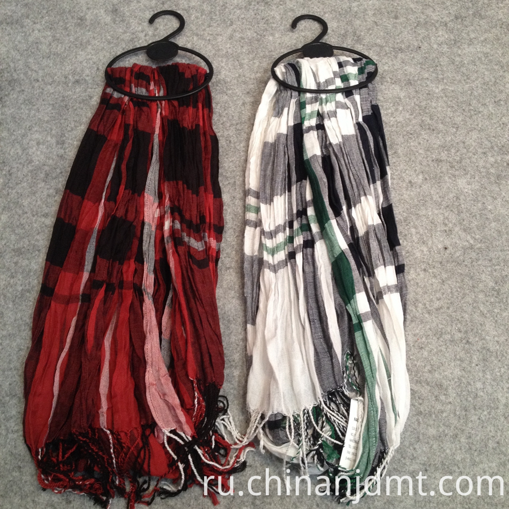 Checker design viscose Scarves