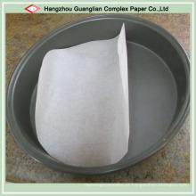 Círculos do papel de pergaminho do silicone para a placa da torta das bandejas da pizza das bandejas de bolo