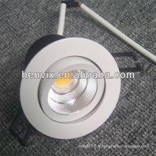 High efficience COB 10w 180 degrés ip44 led downlight