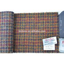 много цветов, смесь 100% шерсть Харрис твид ткань для изготовления сумки