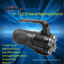 Cree XM-L2 LED 3500 Lumen Aluminum Alloy Rechargeable led Cree Flashlight