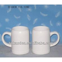 Haonai exported 15oz white ceramic stein beer mug