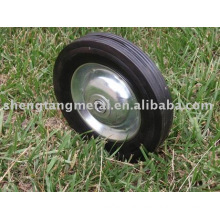 """8"""" solid rubber wheel with steel rim"""