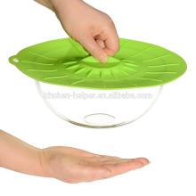 Fácil uso antiaderente tampa de silicone flexível / tampa de sucção de silicone / tampa de tampa de silicone