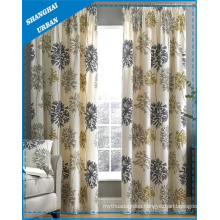 Home Decoration Floral Pattern Print Polyester Window Curtain