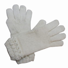 Senhoras moda lã acrílico malha de inverno quente luvas de vestido (yky5331)