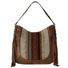 Aw New Collection Brocade Fringe Designer Ladies Handbags (ZX20056)