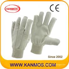 Белые рабочие перчатки безопасности хлопка рабочие (410013)