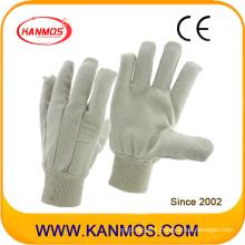 White Industrial Safety Drill Cotton Work Gloves (410013)
