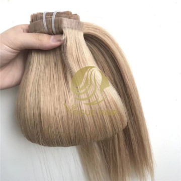 P14 / 16 Naadloze pu clip in hair extensions