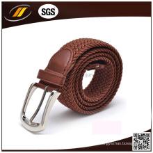 Cinturón elástico tejido con mejores ventas de los tejanos de la buena calidad de los pantalones vaqueros con la hebilla del Pin