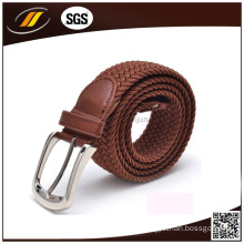 Best Selling Good Quality Jeans Fabric Braided Elastic Belt with Pin Buckle