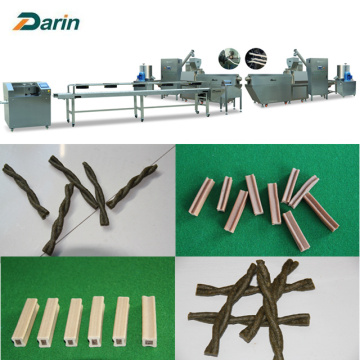 Twisted Twin Color Pet Dog Kauwt Processing Machinery