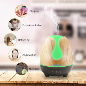 Wholesale 500ml Diffuser Ultrasonic Glass Humidifier Light