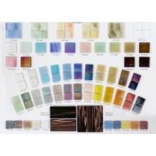 Цветная справочная карта с жемчужной мозаикой
