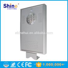 Shinehui 12W luz de calle solar integrada avanzada batería de litio buena LiFePO