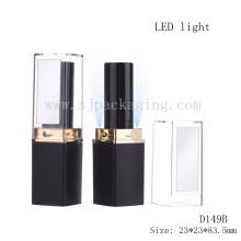 LED cosméticos empaquetado tubo de lápiz labial iluminado con espejo