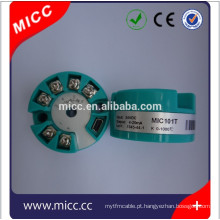 Tipo transmissor da temperatura pt100 de MICC 101T 4-20 ma venda