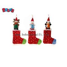 Plush Stuffed Xmas Animal Sock Toy Christmas Ornament