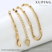 42283-Xuping joyería caliente collar de cadena de imitación de oro simple