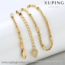 42283-Xuping Hot jewelry simple gold imitation chain necklace