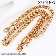 64024- Xuping Melhor qualidade liga pesada jewellri pulseira colar conjunto