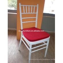 white wedding chiavari chair with removalbe seat XA3013