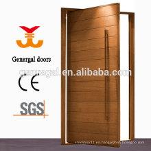 Puerta pivotante de madera maciza exterior