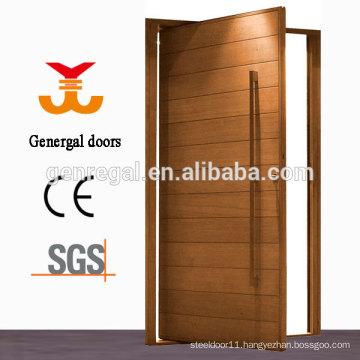 Exterior solid wood pivot door