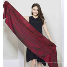 50%Cashmere 50%Silk Fashionable Yarn Dye Shawl