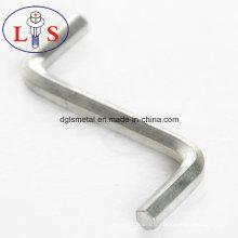 Clé Z plaquée en zinc blanc de prix usine avec haute qualité