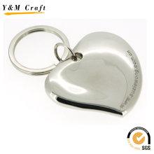 Novo anel chave do metal da forma do coração 3d (y03265)
