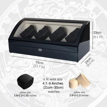 Ebony Watch Winder Storage 16 Montres