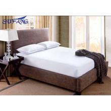 2017 Nuevo diseño hotel 100% algodón terry superficie impermeable, silencioso y transpirable sábana ajustable