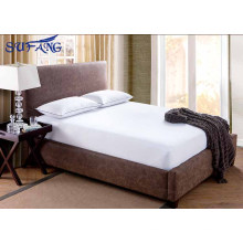 2017 New Designed hotel 100% cotton terry surface Waterproof, Noiseless and Breathable fitted sheet