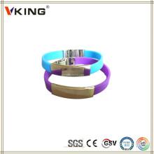 Cheap China grossistas impresso pulseiras de silicone