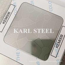 201 Edelstahl Silber Farbe geprägt Kem009 Blatt