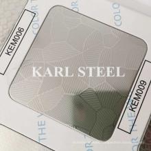 201 Stainless Steel Silver Color Embossed Kem009 Sheet