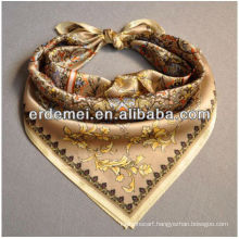 Square digital print silk scarf