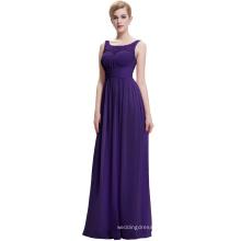 Starzz 2016 New Simple Dark Purple Long Chiffon Prom Dress ST000061-6