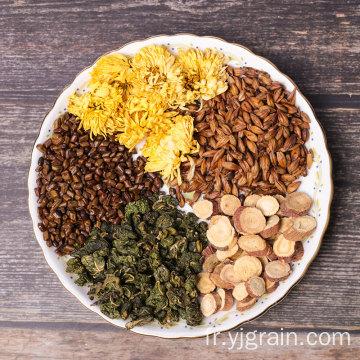 Feuille de mûrier aux graines de casse et thé de chrysanthème
