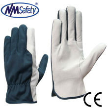 NMSAFETY pig grain reflective leather working glove