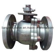 Válvula de bola de extremo de brida de acero inoxidable