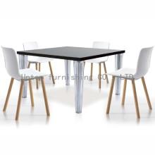 Элегантные Пластиковые обеденный стул с Бука ноги (СП-uc007)